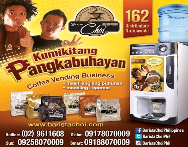 Barista Choi Vending Solutions Inc. | Vending Machine Business in the Philippines